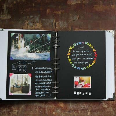 Фотоальбом с черными страницами