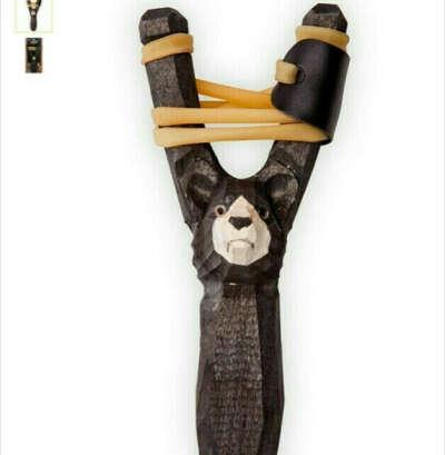 """Рогатка Woodsurf """"Медведь"""", цвет: черный"""