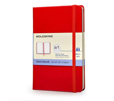 Записная книжка Moleskine Sketchbook (для рисунков), Large (13x21см), алый красный