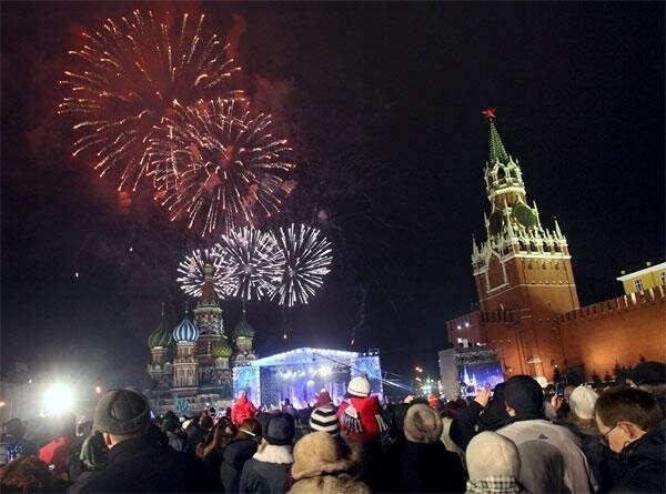 Встретить Новый год на Красной площади с друзьями