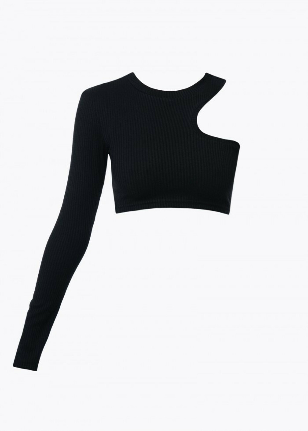 TOP WITH ONE-SHOULDER. BLACK