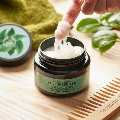 Cкраб шампунь для волос и кожи головы Зеленый чай