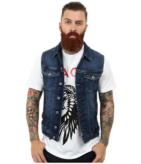 джинсовый жилет