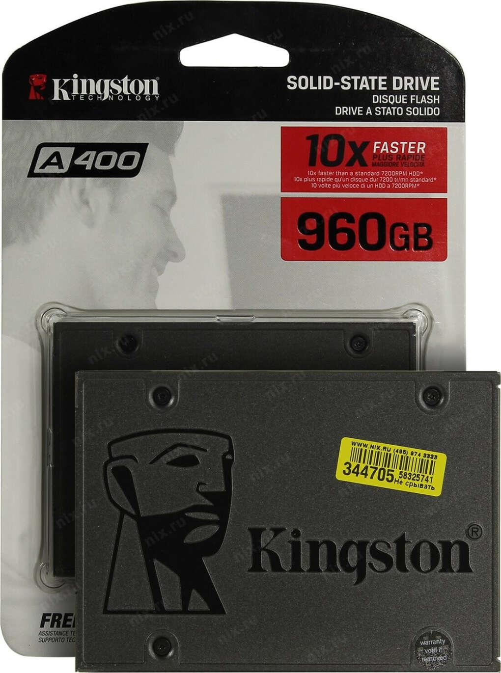 "SSD накопитель KINGSTON A400 SA400S37/960G 960ГБ, 2.5"", SATA III"