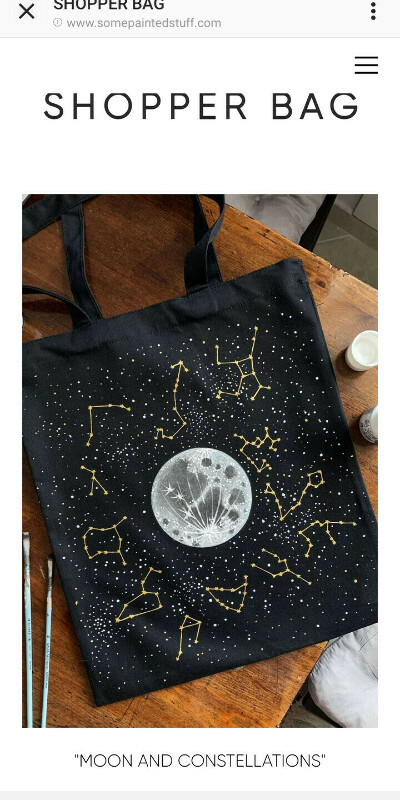 """SHOPPER """"MOON AND CONSTELLATIONS"""""""