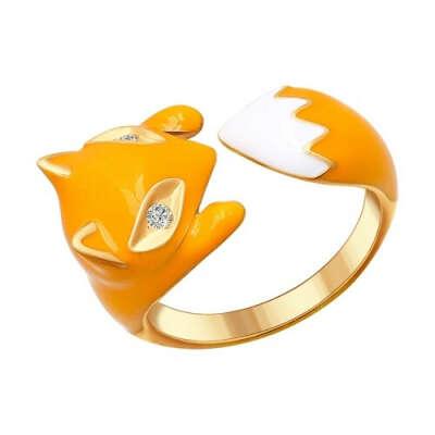 Кольцо из серебра в виде лисы арт. 93010511