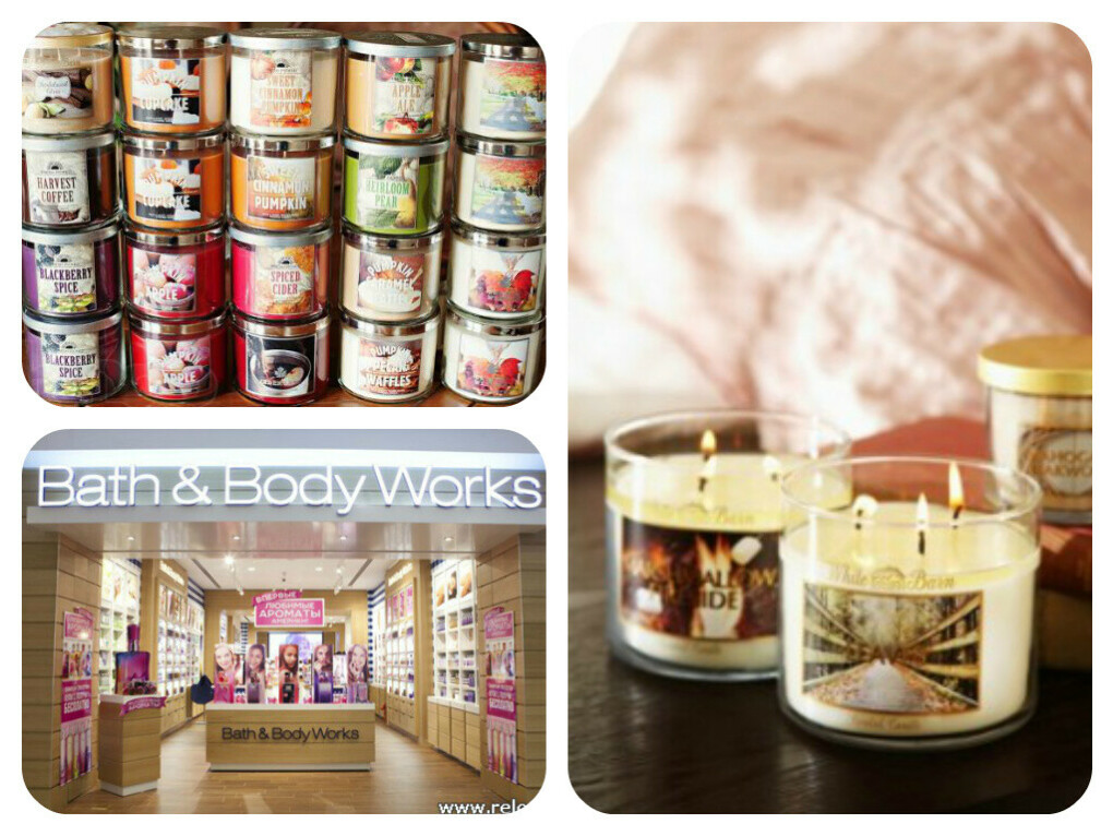 Свечи Bath and BodyWorks