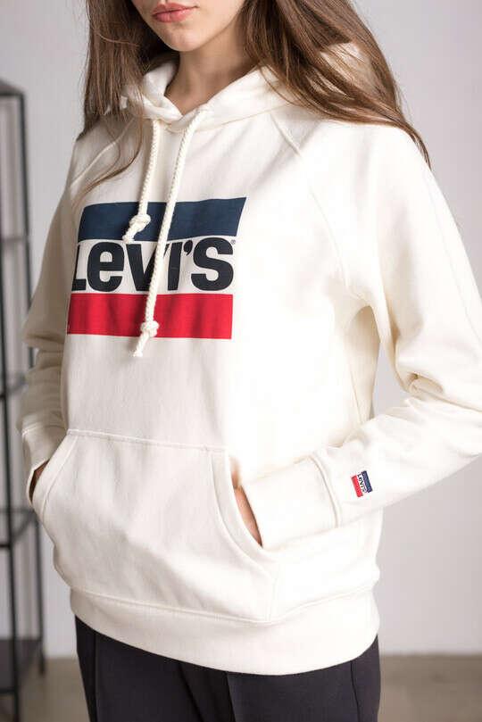 Худи LEVI'S с логотипом белого цвета