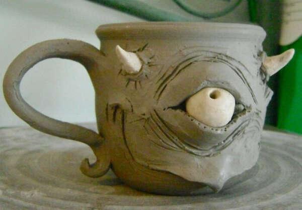 Кружка керамическая большая лёгкая под чай