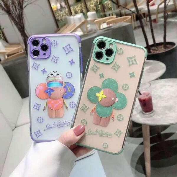 ルイヴィトン ヴィヴィエンヌ iPhone11/11proケース 透明ケース ブランド iphone se2/11pro maxカバー 可愛い LV アイフォンxr/xs max保護カバー