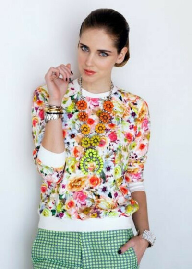 White Long Sleeve Floral Print Sweatshirt - Sheinside.com