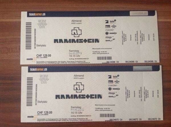 Билеты на концерт Rammstein