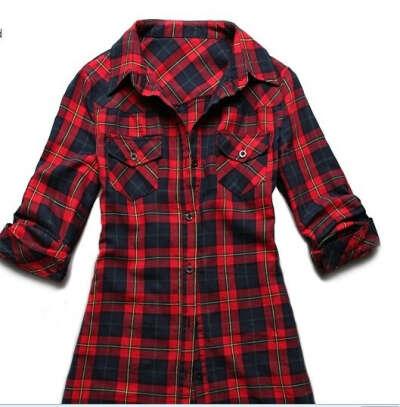 Красная клетчатая рубашка. Много красных клетчатых рубашек.
