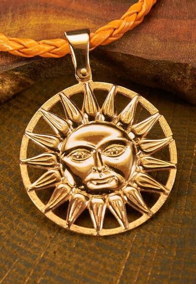 """Золотой кулон """"Солнце"""""""