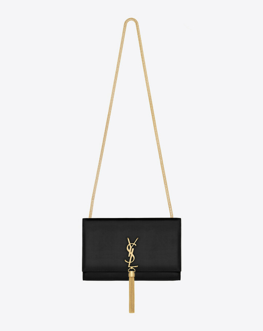 Saint Laurent Satchel Medium à Pompon Monogramme Saint Laurent En Cuir Noir - ysl.com