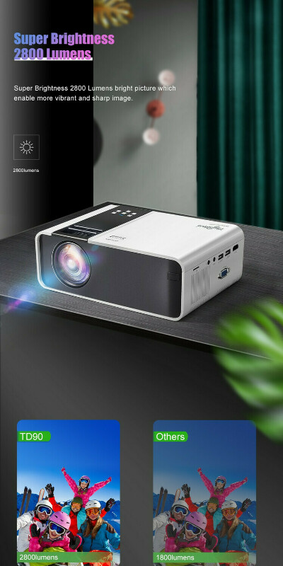 ThundeaL Мини-проектор для смартфона TD90 HD 1280 x 720P