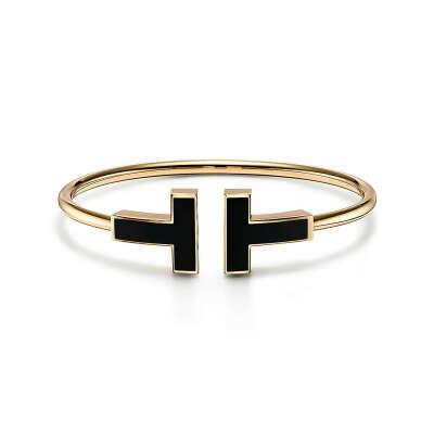 Tiffany & Co Широкий браслет Wire с черным ониксом