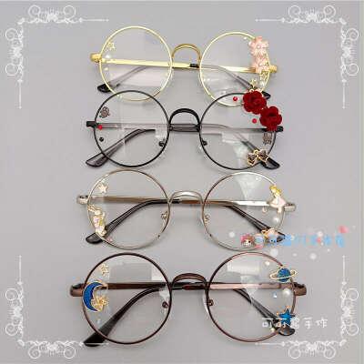 476.53руб. 50% СКИДКА|Оригинальные мягкие японские очки в стиле Лолиты, ручная работа, круглая коробка в стиле Харадзюку для девочек, очки в виде цветков вишни, для геев|Аксессуары для костюмов|   | АлиЭкспресс