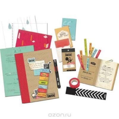 """Подарочный набор для скрапбукинга K&Company """"Красный"""", 86 предметов"""
