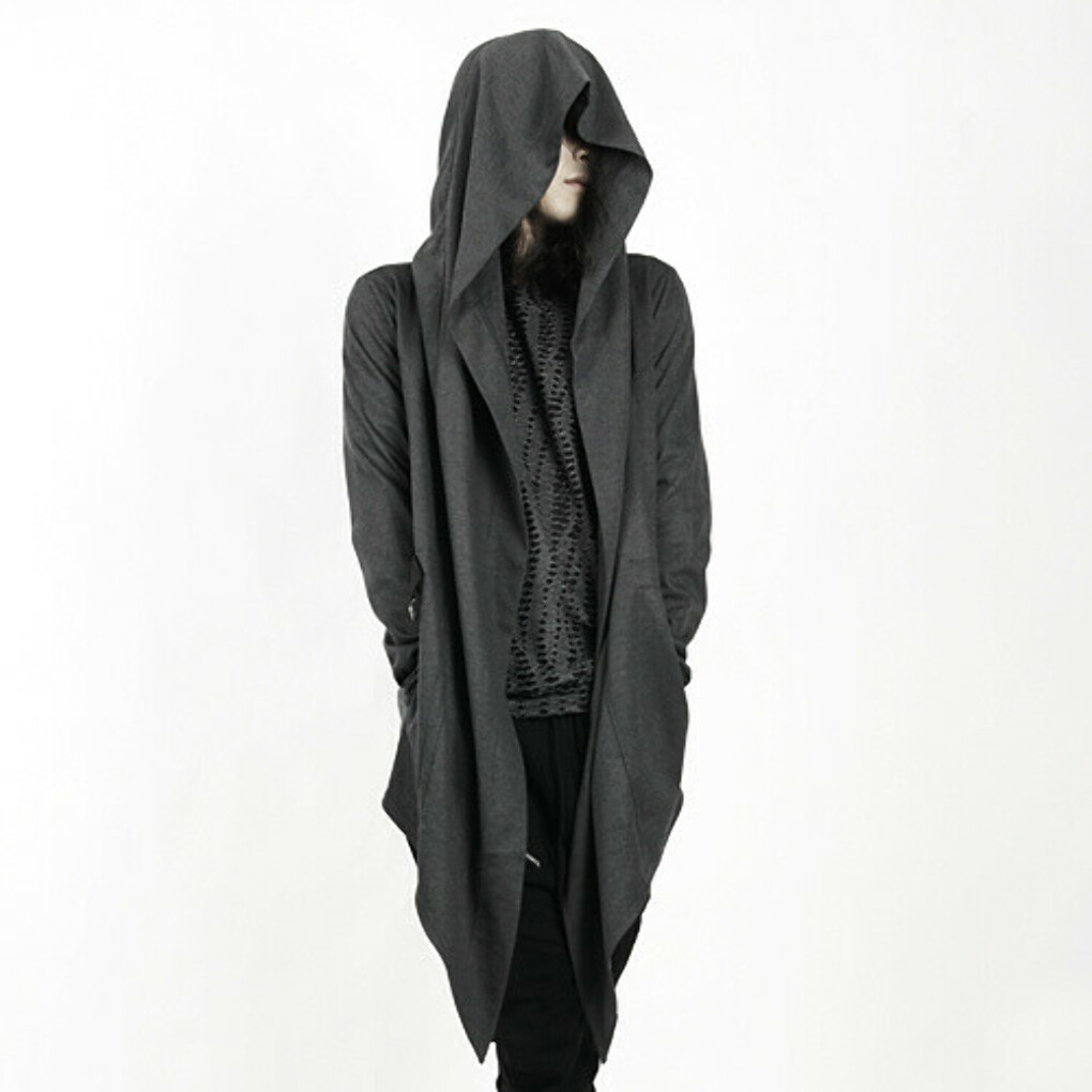 Loose Open Hooded Cardigan