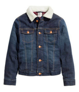 Джинсовую куртку на меховой овчинной подкладке