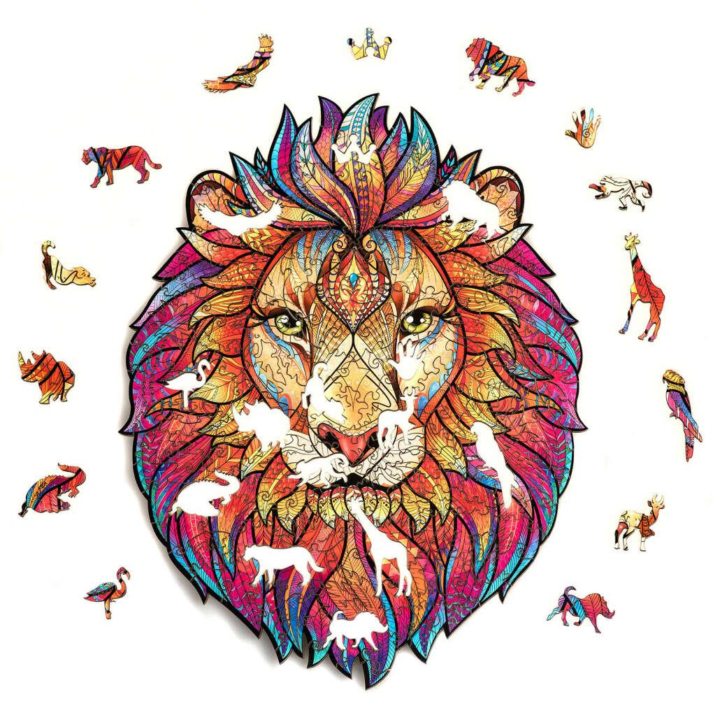 Unidragon деревянный пазл «Таинственный Лев»