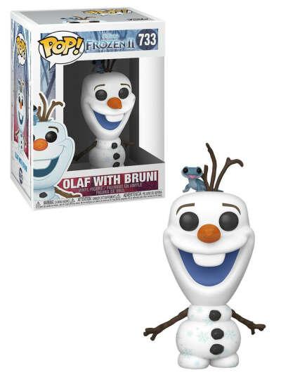 Фигурка Funko POP! Vinyl: Disney: Frozen 2: Olaf w/Fire Salamander 46585, Funko