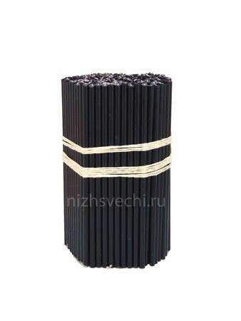 Свечи восковые черные №120
