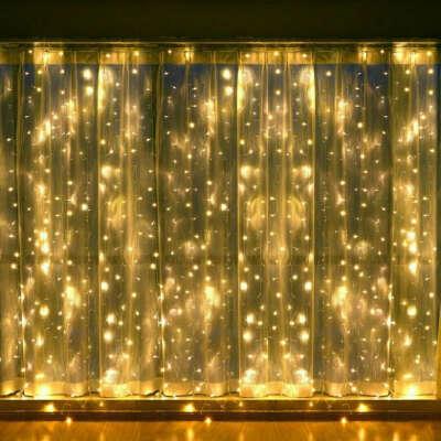 Гирлянда-штора на окно светодиодная