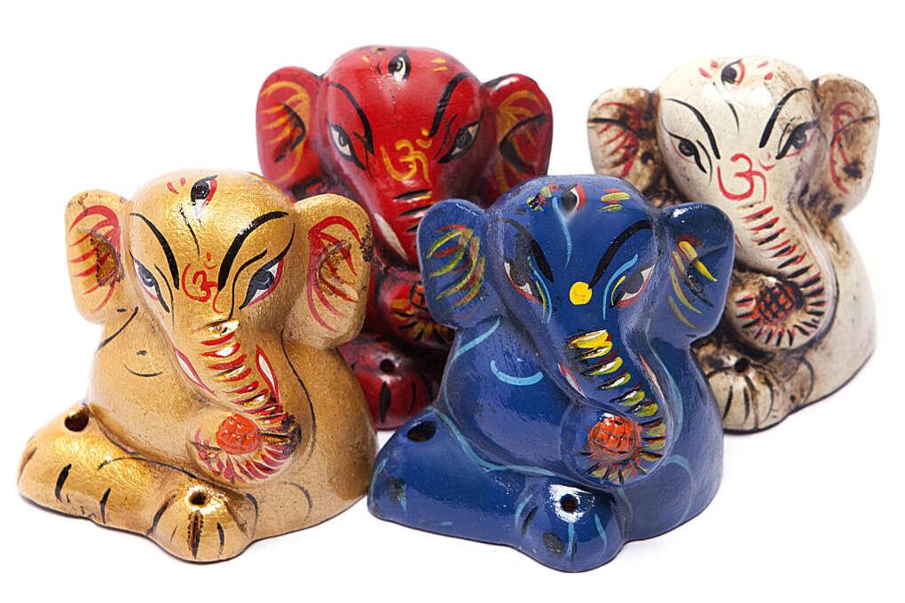 Подставка для благовоний из керамики Ганеш