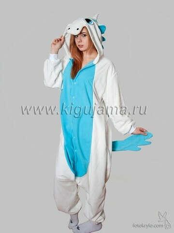 """Пижама кигуруми """"Единорог"""" голубого цвета"""