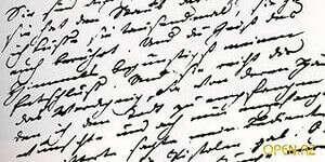 Красивый почерк.