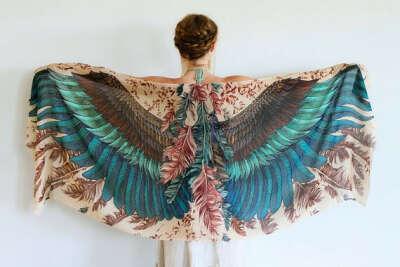 Exotic colors Women COTTON scarf.