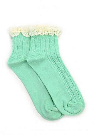 Носочки мятного цвета