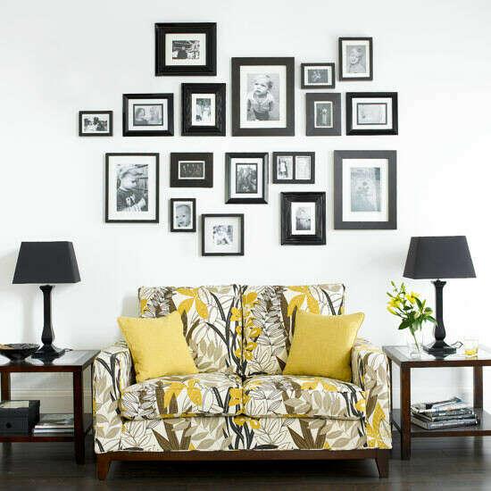 украсить стену фотографиями