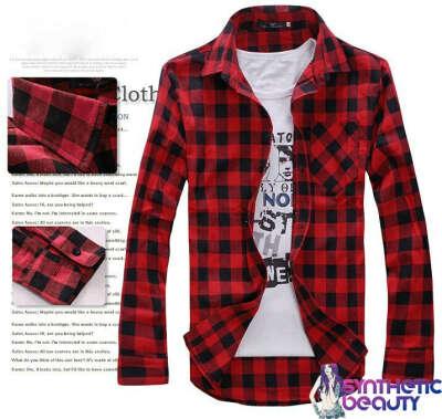 Рубашка в красно-чёрную клетку