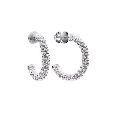 Незамкнутые серьги Beads circle из серебра, из коллекции Paillettes