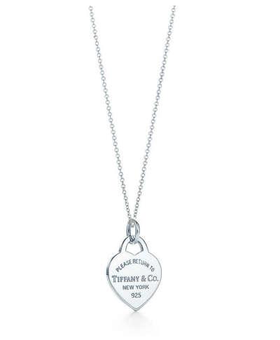 Подвеска-жетон Return to Tiffany™ в форме сердца