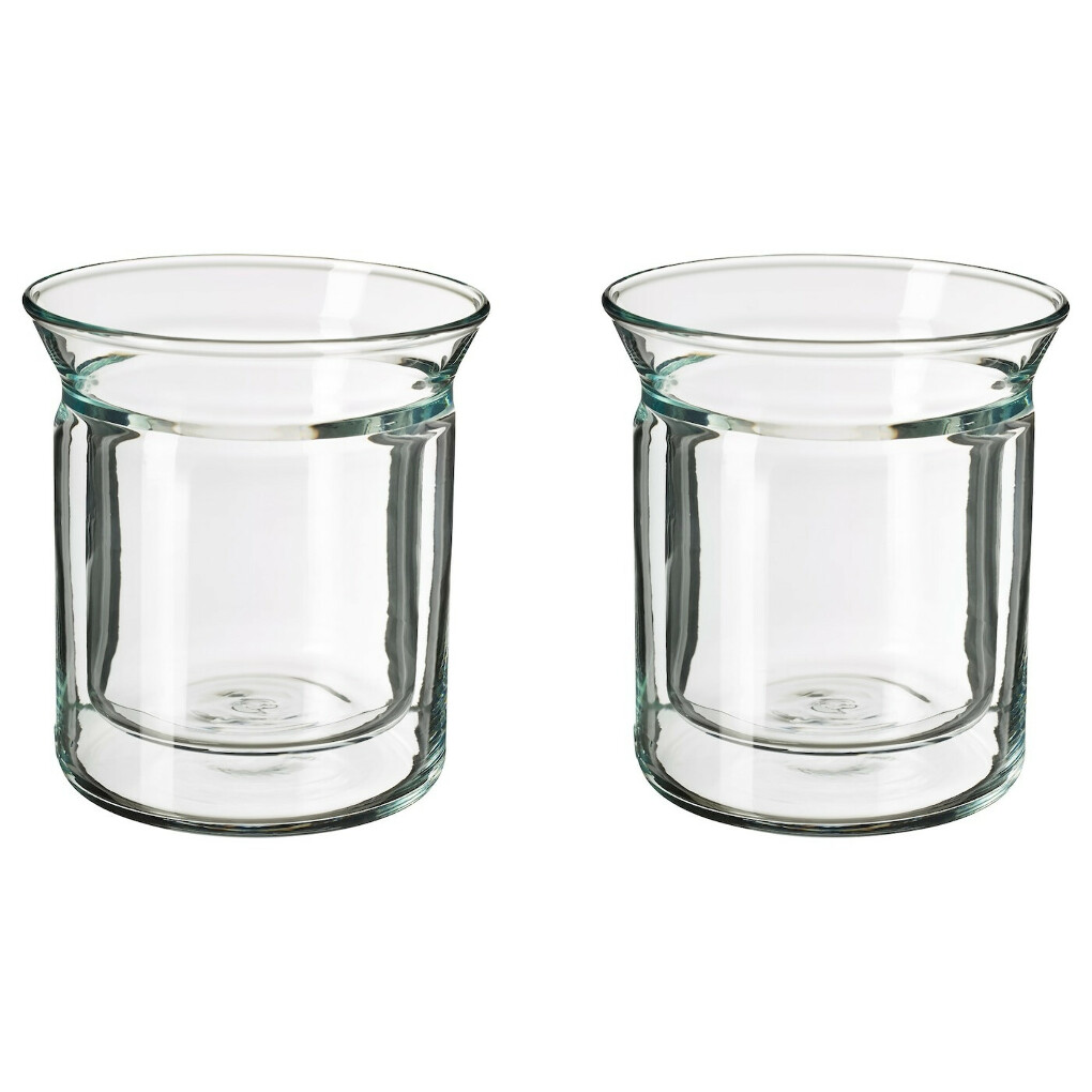 АВРУНДАД Стакан - двуслойные стенки, прозрачное стекло - IKEA