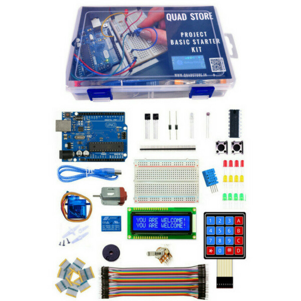 Quad Store(TM) Project Basic Starter Kit with Uno R3 for Arduino beginners - Quad Store