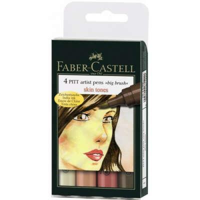Набор маркеров 4шт. Оттенки кожи PITT BIG Faber-Castell 167122