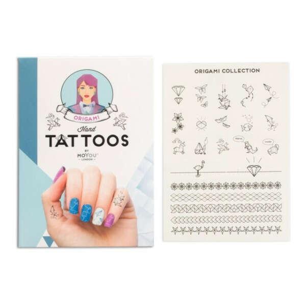 Временные маленькие татуировки - Moyou Origami Black