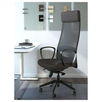 МАРКУС Рабочий стул, Висле темно-серый купить в интернет-магазине - IKEA