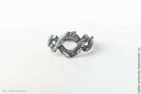 кольцо из серебра Лесной Полоз / кольцо серебро
