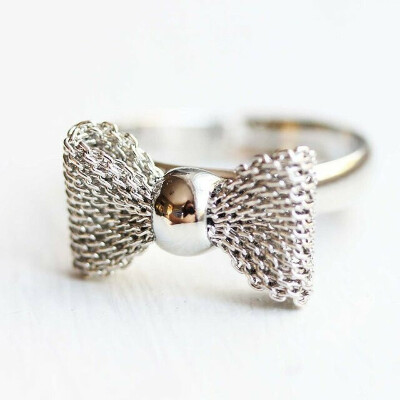 Silver Bow Ring by Diament Jewelry