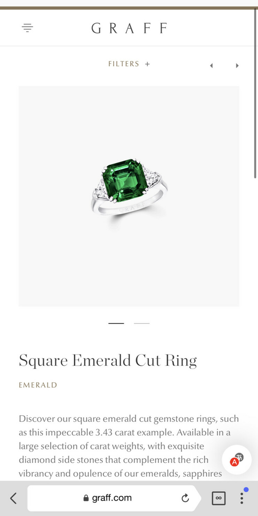 Square Emerald Cut Emerald Ring | Classic Graff | Graff