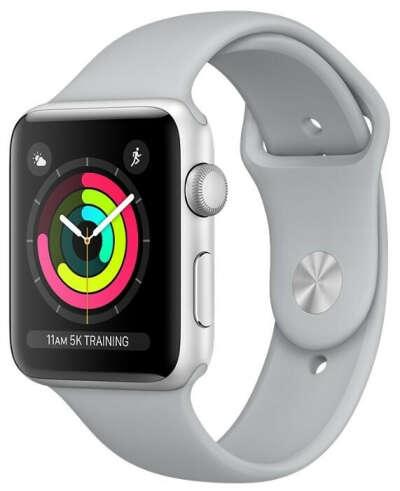 Часы Apple Watch Series 3 38mm Aluminum Case with Sport Band — купить по выгодной цене на Яндекс.Маркете