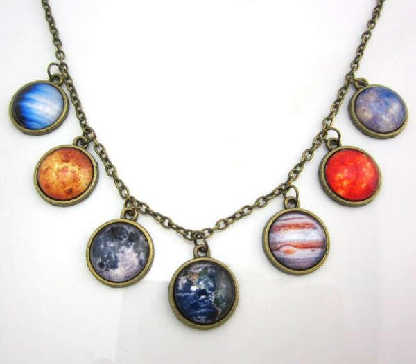 кулоны с планетами