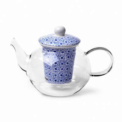 Чайник заварочный CASABLANCA 1000мл с керамическим фильтром (стекло)
