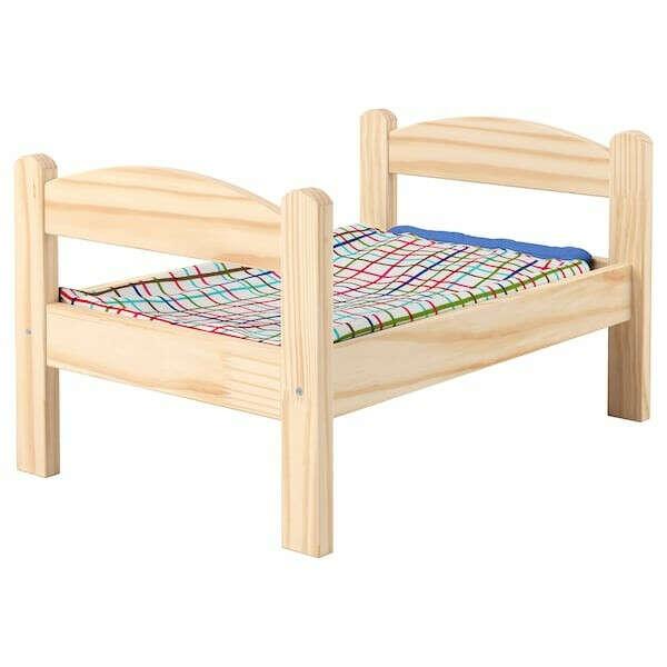 ДУКТИГ Кукольная кровать с комплектом постельного белья, сосна, разноцветный по выгодной цене в интернет-магазине - IKEA